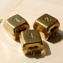 One or two, 3…A multi-brass mini-case with a quadrangular cover carved a seal と number. Antique brass emits gentle brightness. Cube BOX/ accessory case ◆ BRASS in press number box [square] which is wonderful even if I display it as storing and interior m
