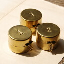 One or two, 3…A multi-brass mini-case with the cover of round shape carved a seal と number. An antique brass material emits gentle brightness. Accessory case ◆ BRASS in press number box [round] which is wonderful even if I display it as storing and inter