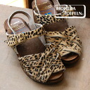レオパード pattern Harako material ver. of popular Wood sandals of our store-limited ♪ モヘダ トフェール! / leopard pattern / real leather / hailstone pattern ◆ MOHEDA TOFFELN (モヘダトフェール) made in / cowhide / Sweden: レオパードハラコレザーメッシュウッドサボサンダル [backstrap]