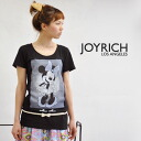 Extreme popularity official collaboration T-shirt / disney /MinnieMouse/DIS-F1208DT/fs3gm ◆ JOY RICH (Joey Rich) of JOYRICH X Disney where cute Minnie Mouse which danced was printed: Dance Minnie Tee