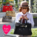 With the canvas cloth which does not stretch itself by a celebrity-like bag-like design too much for ♪ daily and commuting attending school ◎ / Boston bag / handbag / Lady's / bag / square bag ◆ Lara & Heart (LARA and heart): Canvas color bag [L]