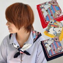 At the helm anchor rope ropes • marine pattern polka-dot pattern and stripe pattern that combines colorful oversized scarves. Feel free to use satin. ◎ / square shape to the bag charm ベルトリボン hair accessories ◆ アクアドットマリン scarf