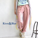 Enjoy the fresh, bright and color development of テンセルツイル material ボーイフレンドチノ pants. In the fabric of a beautiful casual silhouettes enhance to ♪ women ◆ &Blue Rivet (rivets & blue) テンセルツイルタック color pants