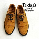 The upper wing tip and fringe features lace-up shoes; the apartment department another note ladies shoes / import / okay-/Curry Suede / ダイナイトソール ◆ Tricker's ( triccars ) カリースエードフルブローグ Derby shoes