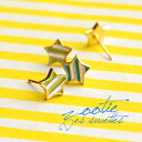 Star-shaped Stud Earrings with a refreshing color scheme using a cute. In small, with barely a shiny presence ◎ star code cuteness plus casually as of イヤーアクセサリー/キャッチタイプ/miniseries ◆ Zootie ( ズーティー ): stripe star earrings