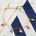 Gold chain bracelet lined up five stars motif different colors one by one! In the adjuster easily adjustable length, as the anklet featured colorful accessories ◆ Zootie ( ズーティー ) :FIVE パステルスター line bracelet