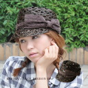 ◆ cotton race BIG ribbon pork pie raffia cap with the big ribbon of the cotton race that is generous in a raffia palm knit roughly for hat / Lady's / women with the saliva using the ON ♪ nature material which is slightly fresh form letting you feel Malin