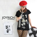 Extreme popularity official collaboration of JOYRICH X Disney where a logo of mini T-shirt ♪ No1 of outing specifications shines in with sunglasses! / disney /DIS-F1220TE/FEMME ◆ JOY RICH (Joey Rich): No. 1 Minnie Dress Tee