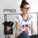 Minnie baby t-shirt with love mickey mouse perfume ♪ Minnie logo is painted throughout! Popular オフィシャルコラボ T shirt JOYRICH×Disney / Disney /F1218DT/FEMME ◆ JOY RICH ( Mickey Mouse No1 ) :Perfume Minnie Dress Tee