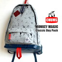 "The day pack which performed NPO corporation ""monkey magic"" and collaboration for the purpose of the support to a climber with a sight obstacle. From daily to OUTDOOR OK/fs3gm ◆ CHUMS (Kiamusze): MONKEY MAGIC sweat shirt classical music day pack"