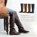 Knee high boots leather with plenty of color unevenness using the surprisingly beautiful, long legs to produce. Wear also wrapped in the mouth-side slit ◎ / knee / ladies / import / Lady shoe / spring boots ◆ enrique ( Enrique ) 2-WAY leather boots