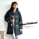 "Traditionalweatherwear キルトダッフル long coat ""Filton"" Black Watch pattern ver. / McIntosh / women's / 2004 C ◆ Traditional Weatherwear traditional weather ( were ) :FILTON ツイードキルティングダッフル Court the BLACK WATCH."