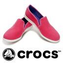ロープロフルバンプ canvas sneakers for just a light cotton material. Removable ribbed クロスライトインソール and slip-on / flat shoes / ladies / women's / women's Shoes / Sneakers ◆ crocs (crocus) loprp full vamp canvas sneaker