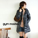 Waist length long before and was just cold! Light and modest volume, but firmly warm finger holes with thin downcourt / zip up / jumper / outerwear / ladies / outdoor / down 95% ◆ gym master ( jimmaster ): ライトウエイトダウンフードフルジップ Court