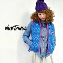 Use the colorful pattern inspired by vintage Indian blanket オリジナルパイルフ lease. Light and warmth and practicality that combines outdoor also Taunus ◎ / ノースリーブアウター ◆ WILD THINGS ( wild ) PATTERNED PILE VEST