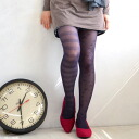 Border pattern x CHOW-star pattern on one foot! Changed the pattern design by unique school tights ♪ thin denier of a stocking, heels no type size free ◎ / legwear / socks / pantyhose / socks ◆ シースルーア symmetry tights [border x star]
