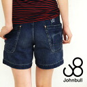 The feminine straight jeans panties which feeling of work drifting detail such as シンチバック or the suspender button glitters. The big pocket of a side spreading out to the back ◎◆ johnbull (John Bull): セルヴィッチライトオンスデニムワークショートパンツ [AP161]