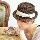 Ladies Hat chides tear drop design finished with Ribbon to girly. Natural straw material and straw hat style ◆ Rebecca ( Rebecca ) Ribbon straw hat [ショートブリム]