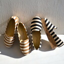 Border pattern casual shoes soled come to mind this season: in spring and summer refreshing cotton material perfect for. Heel better peace of mind chunky heel women's shoes and striped pattern / women's / heeled wind ◆ マリンボーダーキャンバスプラットフォームスリッポン