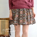 'Ethnic', only it's not! Colorful Kilim pattern カラフルコーデ color scheme this year is perfectly addictive mini-skirts. Its fun Chin specs and lined with ◆ Zootie ( ズーティー ): オルテガジョーゼットミニ skirt