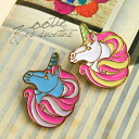 Your clothes to hats, bags to! Looks cute but dignified look realistic, pastel's unique Unicorn-imagineers / accessories / badges / badge ◆ Zootie ( ズーティー ): ユニコーンフェイス brooch