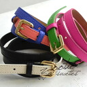 Faux leather belt designed by monotone or colorful color scheme! Buckle is removable, useful items can be used as a solid belt! and clothing accessories / Combi color / smart belts / leather ◆ Zootie ( ズーティー ): Slim bi-color 2-WAY belt