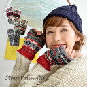 A ventage mitten warm well to enjoy with good-quality British wool. Size and the simple design / Nordic events pattern / protection against the cold accessory / gloves / gloves / knit mitt ◆ STEWART AUSTIN (Stewart Austin) Fair Isle knit fingerless mitte