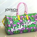 "A collaboration bag of JOYRICH X Keith Haring. A letter of ""KeithHaring"" is greatly a presence size like a logo at the front desk! With the dome type which is fully in the clothing in a traveling bag ◎ / travel /KHG-U 13Q4BG ◆ JOY RICH (Joey Ri"