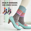 The horizontal stripes that are lively to the former! The slight pumps and shoes of the former and the middle length socks / foot wear / Lady's / woman socks / leg wear / shortstop socks ◆ Kalla full-line lib regular socks which are pretty without a blun