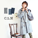 Toggle coat of denim material, finishing on a work detail. Feel free to wear heavy 7.5 オンスデニム use / coat / outerwear/ladies ' long sleeve medium ◆ C.L.N( シーエルエヌ ):7.5oz denim Duffle coat