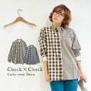 "The individual change shirt which was designed with ""a block check"" and ""a gingham check."" Natural 100-percent-cotton material of a feeling of cloth which is usable in whole year. The 2WAY specifications / long sleeves / Lady's / blou"