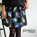 "A flared skirt using individual original textile ""car camping!"" / waist rubber / mini-length /JOY-F1327SK/ back zip ◆ JOY RICH (Joey Rich) with the back fastener: Car Camp Skater Skirt Zip"
