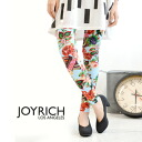 """A jukebox is floral"" floral design textile full of the 1950's beauty; the whole pattern spats of the pattern! For cut-and-sew cloth leggings /10 which is usable in all seasons length / enough length /JOY-F1346PT ◆ JOY RICH (Joey Rich): Juke Bo"
