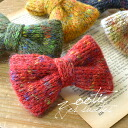 "Valletta of the warm knit ribbon with the raised feeling. The woolen yarn of the mixture color ""Kalla direct it fully"". Even if rank a bag and clothes not to mention hair arrangement; ◎ / hairpin / hairpin / hair ornament ◆ Zootie (zoo tea): Mo"