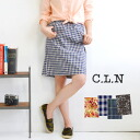 """I want""! The pattern skirt which が is found in! Popular cocoon silhouette ◎ soft cotton Ikuji / waist rubber / knee length / midi length / cicada tight /fs3gm ◆ C.L.N (sea L N) which is not too tight to be able to wear willingly in whole year:"