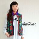 Using a large floral print fleece bold colors. サーモクールフ lease much too hot to prevent using the lightness and comfort and practicality combined ノースリーブアウター/outdoor ◆ WILD THINGS ( wild ) FLOWER FLEECE VEST