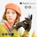 A smartphone is one necessity for now of the mainstream, one! Five all five fingers smart phone gloves / solid / unisex / protection against the cold / accessory / moving bag /iPhone/ eyephone / smartphone / gloves ◆ iTouch Gloves [Harris Tweed] of the r