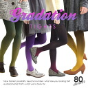 The step where a color changes. Footware of the beautiful gradation that is something with both the color tights and the pattern tights. Barefoot 透 injury feeling of cloth / stockings / womens socks / Lady's ◆ gradation tights of moderate thickness not t