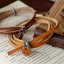 Taste is given so as to embezzle it because it is the leather bracelet of real leather specifications! Three simple bangle ◆ leather Dell guard bangles which usual coordinates can use cool & for with unisex to be decided cutely just to wind it around