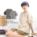 To the gingham checked pattern smock blouse which there is a natural feeling, the puff sleeve that positive ◎ is not too generous in a sleeve is easy to perform coordinates of organdy of refined luster! Lady's shirting dropped shoulder sleeve short sleev