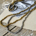 The long necklace which fits in into any style that it is simple, and linked beads. Because it is an expansion and contraction silken gut, it becomes even the bracelet! Accessories ethnic lye Cebu reply ◆ cheer (cheer) metallic beads necklace