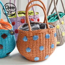 In the waterdrop pattern of the exquisite color, it is with the cloth in the drawstring purse of the color! Basket bag lady basket bag みずたま bag カバンパプ BAG tote bag handbag natural ◆ cheer (cheer) which I knit out of tender pulp in the spring and summer: A