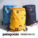 A backpack superior in box-shaped functionality. Durable water repellency unisex man and woman combined use rucksack day pack rucksack Lady's men fatty tuna Miro pack ◆ patagonia (Patagonia) TOROMIRO PACK 22L with the pocket for padded note PCs who have