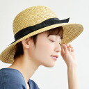 カプリーヌハットストローラウンドリボン actress hat miscellaneous goods accessory capeline straw hat style spring clothing blind ultraviolet rays measures HAT ◆ グログランリボンストローキャ ぺ phosphorus hat of the saliva wide design which is a lady to a natural straw hat for summer in th
