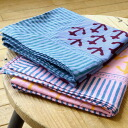 "The large size handkerchief that stripe pattern and Ikari pattern were designed by pop coloring. The natural print with the Indian tradition technique ""hand block print"" is attractive! ◆HORN PLEASE (Horne please): Hand block print anchor handkerchief"