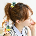 The barrette which I fully put the artificial flower of various kinds on. I let you cross across the hair! The hair accessories hair arrangement woman miscellaneous goods accessory ◆ pastel bouquet rolling clip which hair is collected in for a hair rubbe