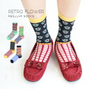 It is ◆ retro flower X check regular socks in the crew sock Lady's socks womens socks shoes socks shortstop socks crew length shortstop length casual clothes girly spring and summer when I put the checked pattern that is a mode together in a nostalgic co