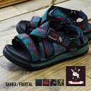 """The free fall"" that a South African traditional pattern and tape of the coloration cross in the former. 432002 men gap Dis mail order Rakuten ◆ SHAKA (Shaka) '14 FREEFAL for women in unisex sports sandal shoes summer of a design and the sole w"