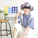 A short-sleeved shirt of the refreshing gingham checked pattern! It is ◆ gingham check dolman short sleeve shirt 100% of dolman sleeve design cotton worn relaxedly lady's shirt blouse relaxedly