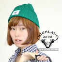 ニットワッチニット hat low gauge knit cap spring and summer hat ぼうし Lady's men unisex accessories miscellaneous goods accessory ◆ HIGHLAND2000 (highland 2000) Cotton HC Watchcap in the spring and summer when I edited it by the British traditional manufacturing me